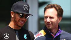 Christian Horner considera la actitud de Hamilton en Abu Dhabi totalmente lícita. (Getty)