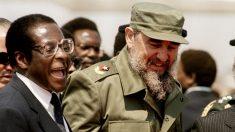 Robert Mugabe y Fidel Castro, en 1986, cuando el dictador cubano visitó a su homólogo zimbabués en Harare. (AFP)