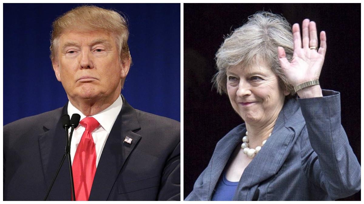 Donald Trump y Theresa May.