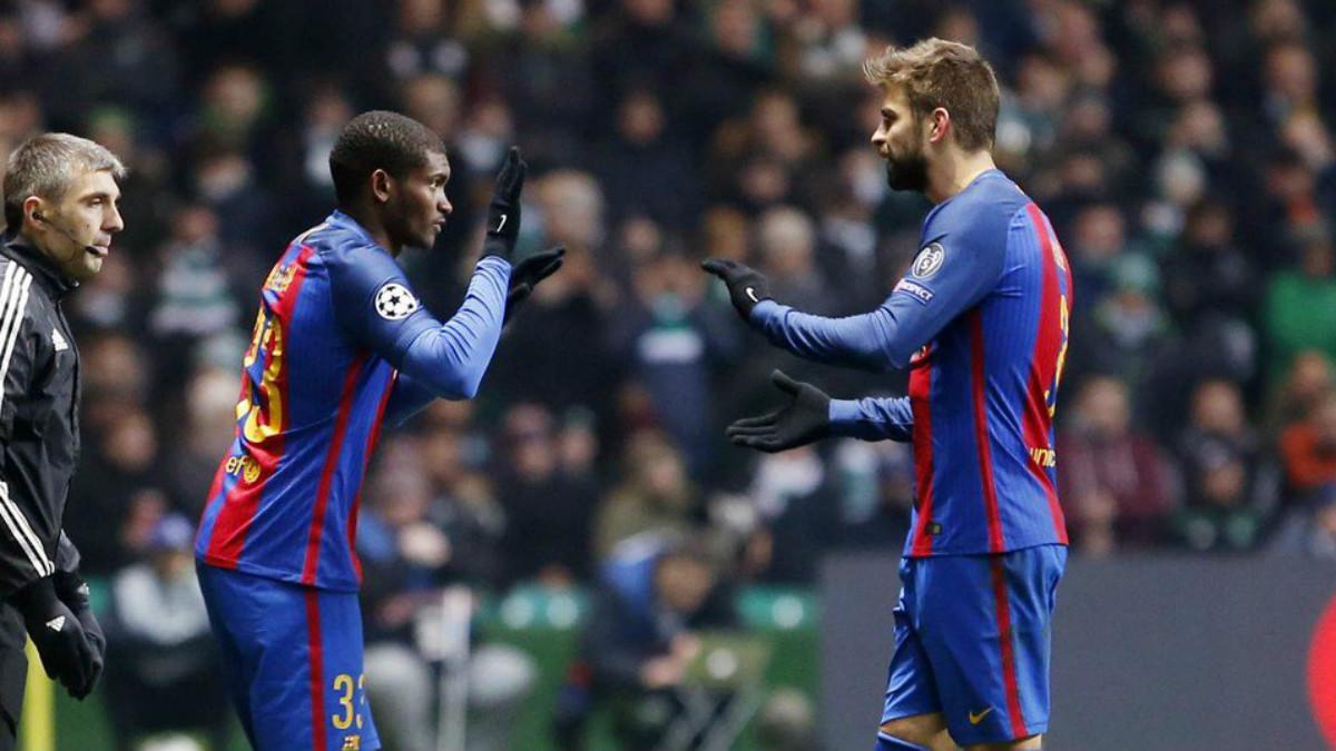 Marlon debutó con el Barça en Celtic Park. (fcbarcelona.cat)