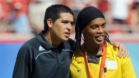 Juan Román Riquelme y Ronaldinho