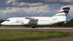 Avión de Lamia siniestrado.