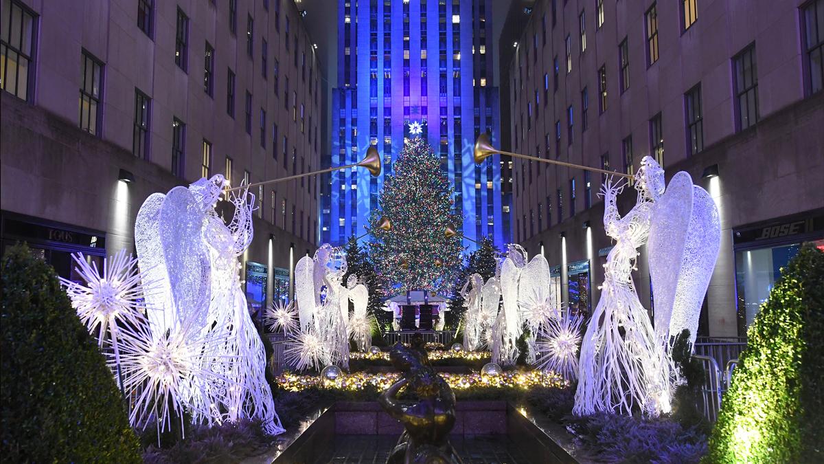 Árbol de Navidad del Rockefeller Center de 2016. (Foto: AFP)