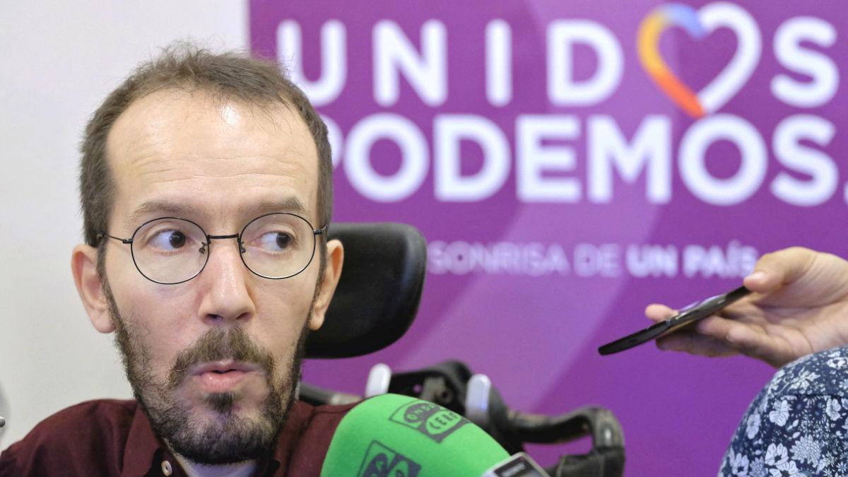 El secretario de Organización de Podemos, Pablo Echenique (Foto: Efe)