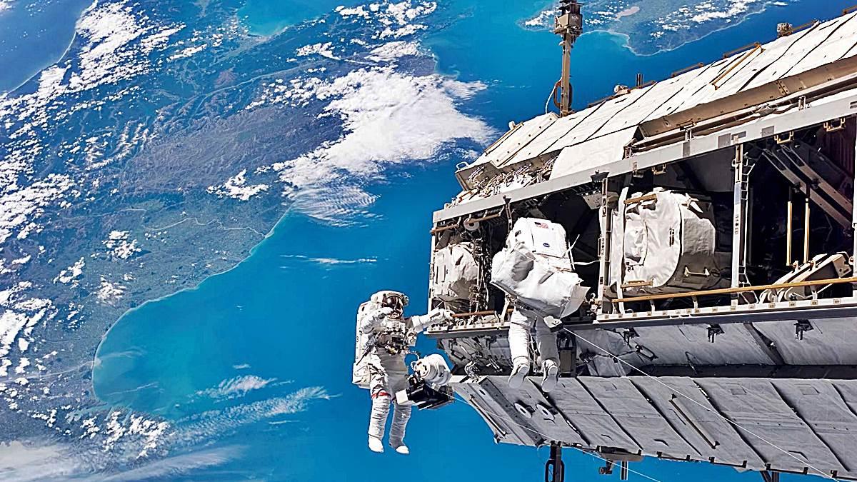 estacion espacial internacional astronautas