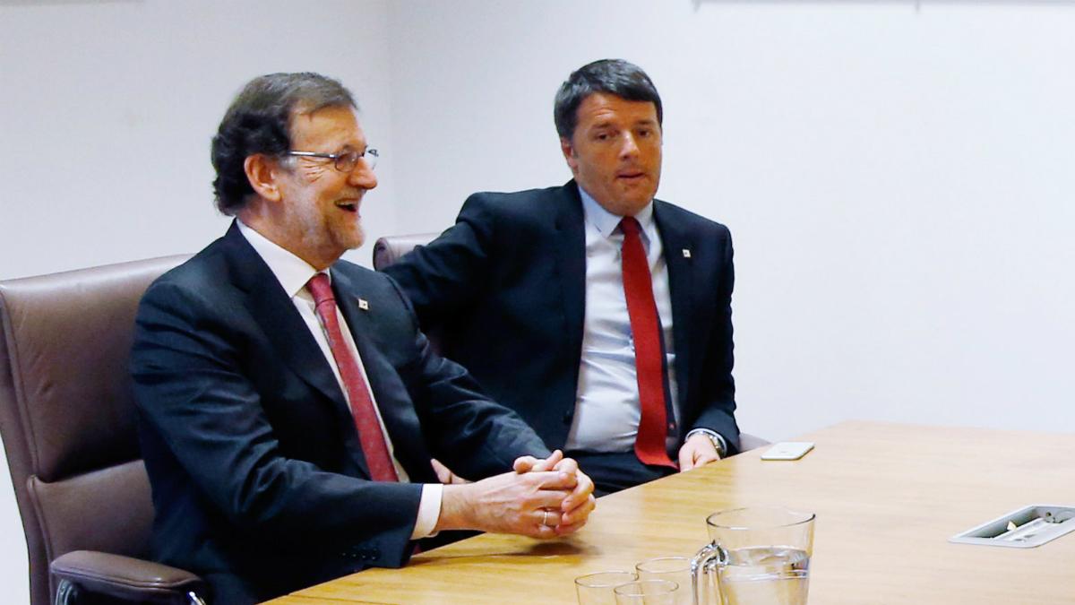 Mariano Rajoy junto al primer ministro italiano, Mateo Renzi (Foto: GETTY).