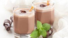 Receta de batido de chocolate y menta
