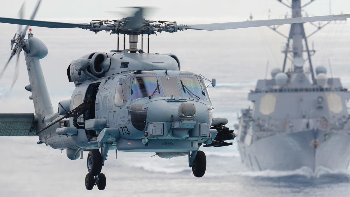 Imagen de un SH-60F similar al que adquirirá la Armada española.