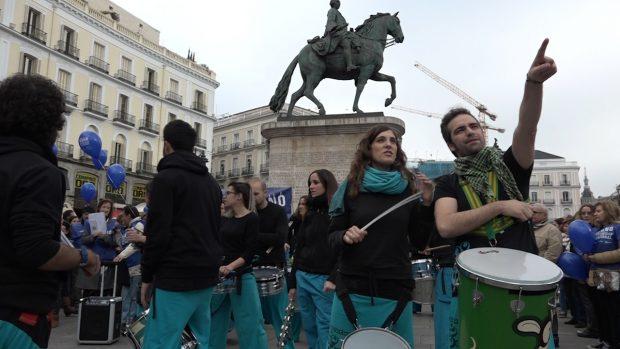 Miembros de la Batucada Zacatum (Foto: OKDIARIO).