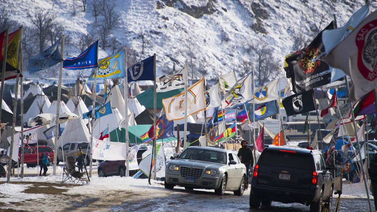 Protestas contra el oleoducto Dakota Access (Foto: AFP)