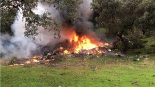 Imagen de otro accidente de avioneta ocurrido el pasado año en la provincia de Toledo.