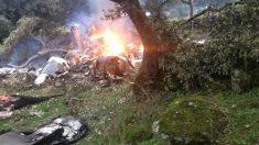Imagen de un accidente de avioneta.