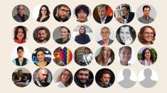 Ribó, Oltra, Urbán, Kichi, Bustinduy o Victoria Rosell, entre los invitados de Podemos más conocidos. (Fotos: Solimed)