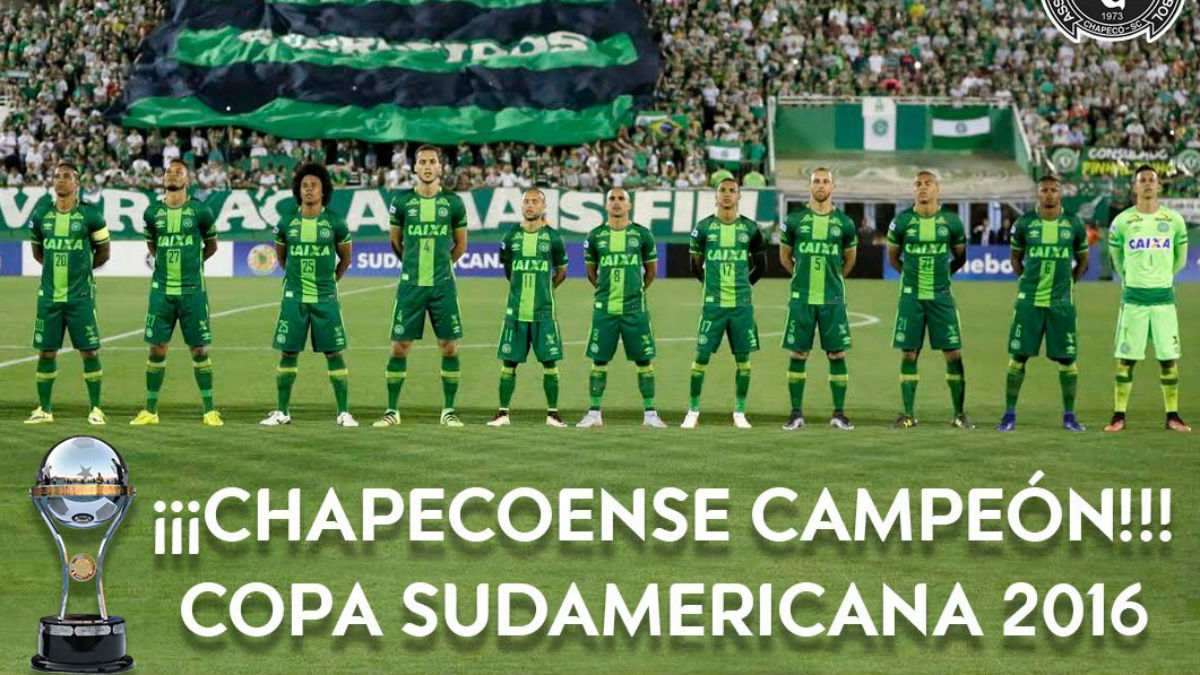 El Chapecoense campeón de la Copa Sudamericana. (Conmebol)