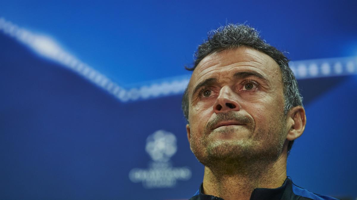 Luis Enrique durante la rueda de prensa previa al Barcelona-Mönchengladbach. (EFE)