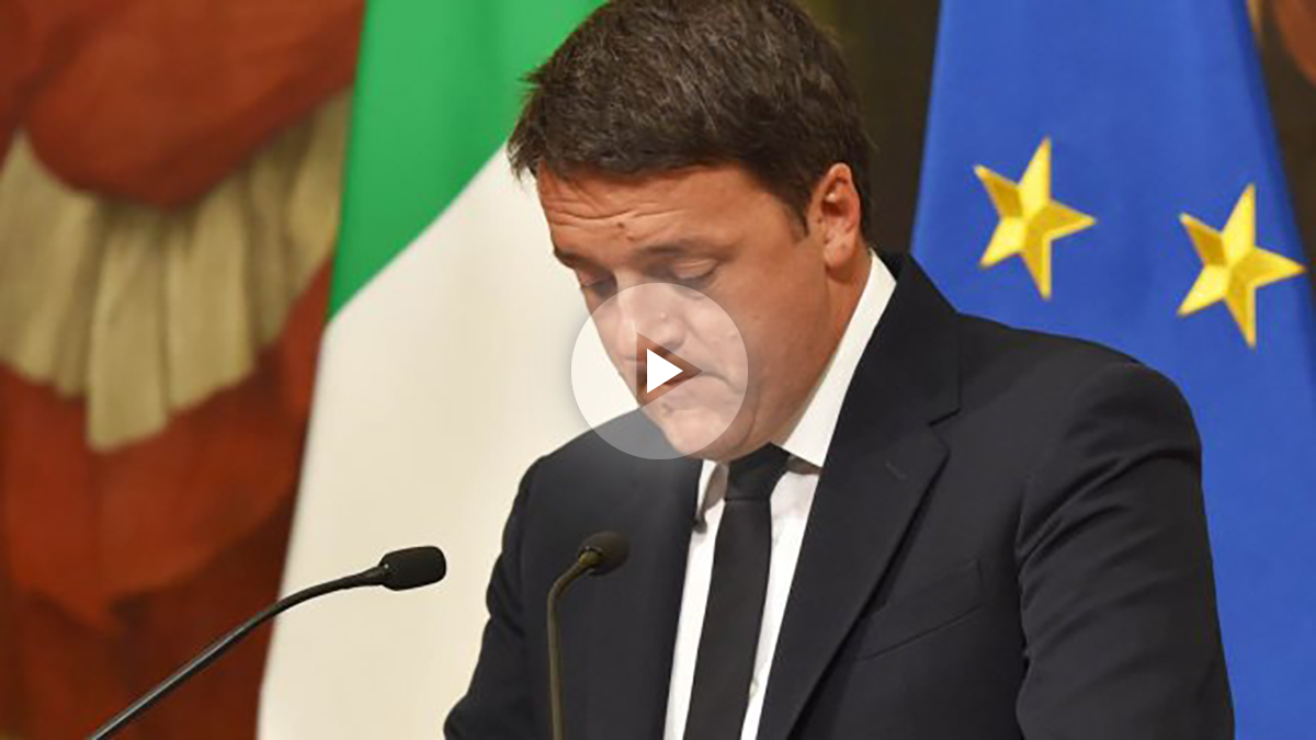 Mateo Renzi anuncia su renuncia (Foto: AFP)