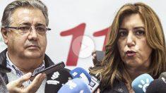 Juan Ignacio Zoido y Susana Díaz en Málaga (Foto: EFE)