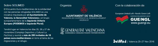 El evento financiado con dinero público no esconde que cuenta exclusivamente con organización de Podemos e IU. (Clic para ampliar)