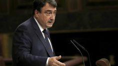 El portavoz del PNV en el Congreso, Aitor Esteban, durante una intervención en el Congreso de los Diputados (Foto: Efe).