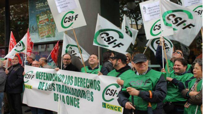Trabajadores de la ONCE denuncian sus condiciones laborales y objetivos de venta