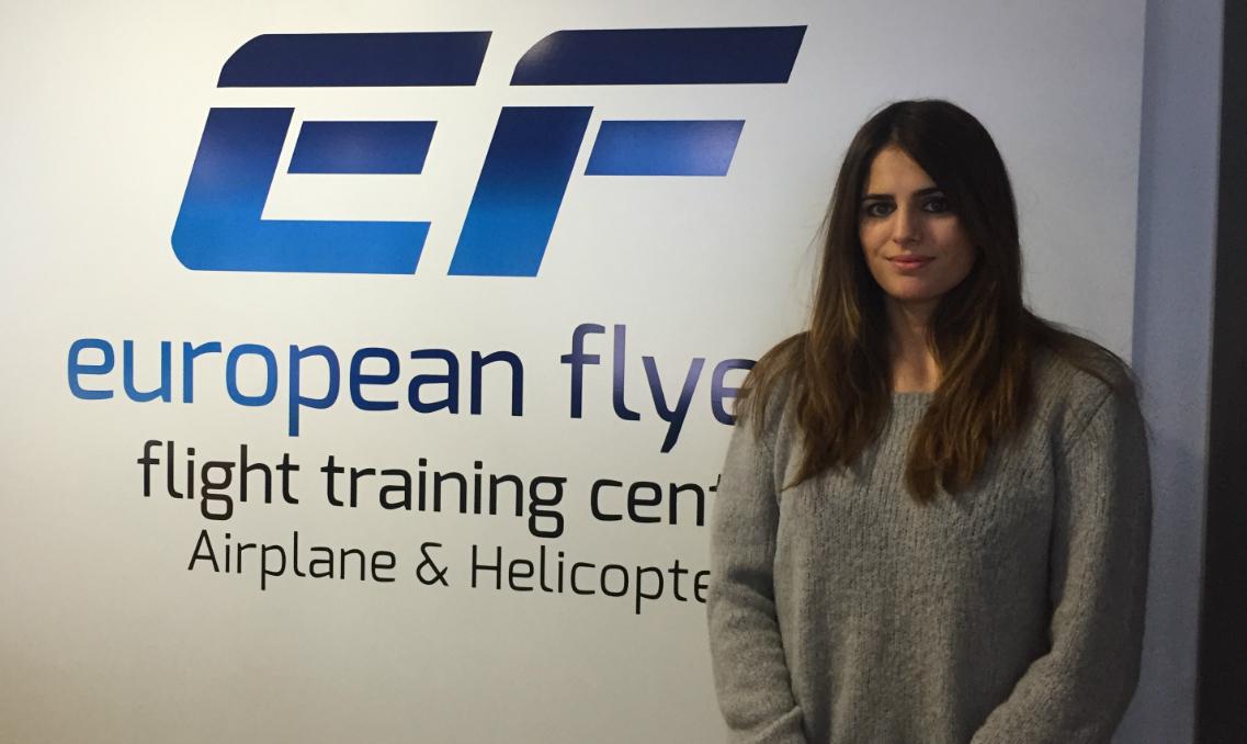 Sara Llano, copiloto y antigua alumna de European Flyers.