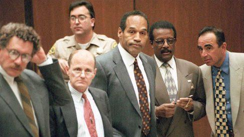 """O.J. Simpson en el conocido como """"juicio del siglo""""."""
