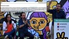 Mónica Oltra, portavoz de Compromís; Pablo Iglesias, líder de Podemos y Alberto Garzón, líder de IU. (Foto: AFP)