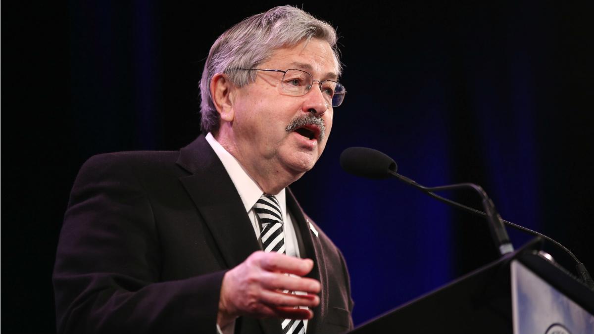 Terry Branstad, gobernador de Iowa y futuro embajador de EEUU en China. (AFP)