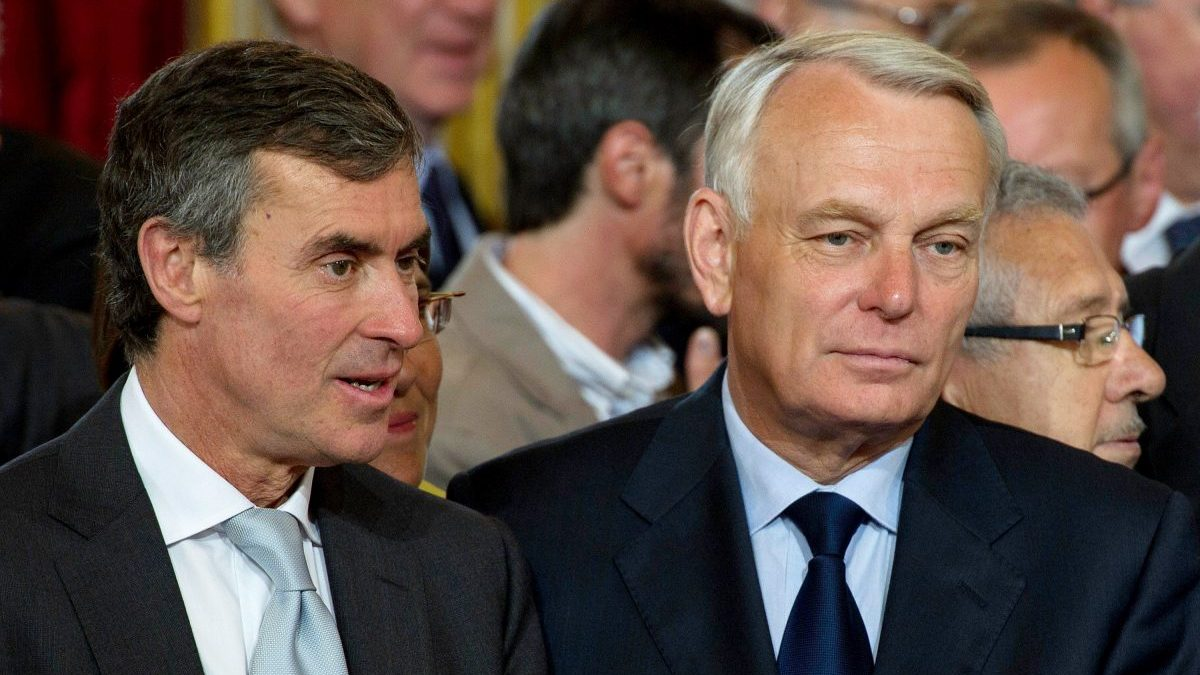 A la izquierda, Jérôme Cahuzac, ex ministro de Hacienda con François Hollande (Foto: Getty)