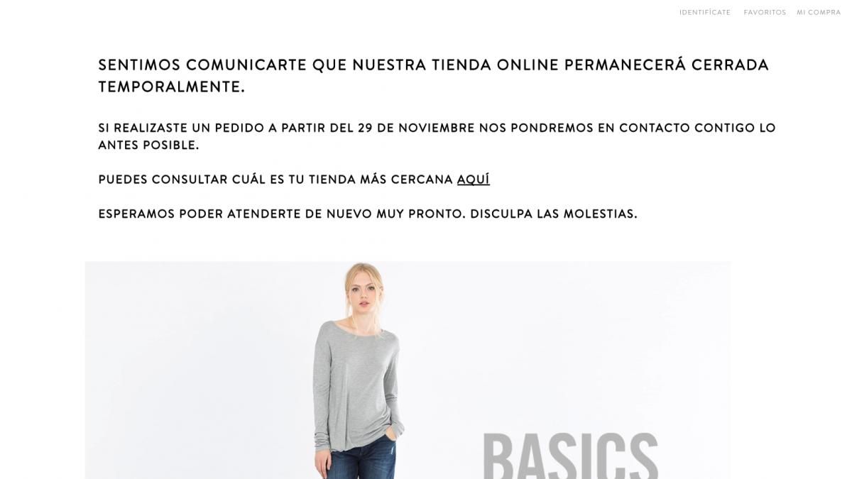 Blanco cierra sus tiendas y el mercado online