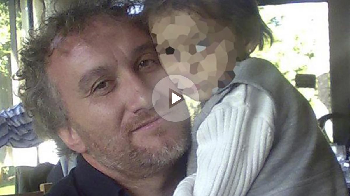 Fernando Blanco con su hija Nadia.