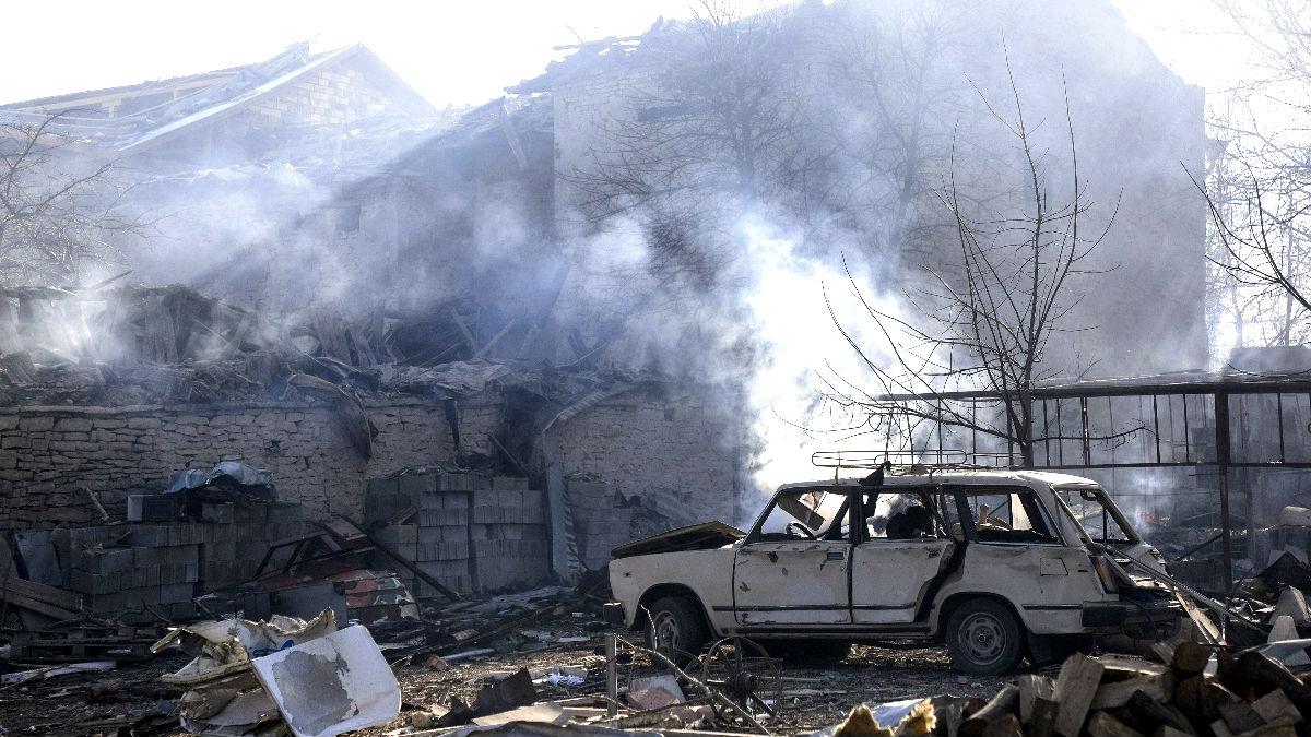 Imagen tras la explosión del tren de carga (Foto: AFP).