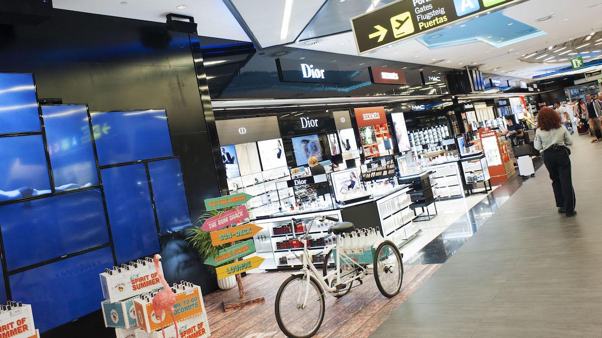 Duty free en el aeropuerto de Mallorca.