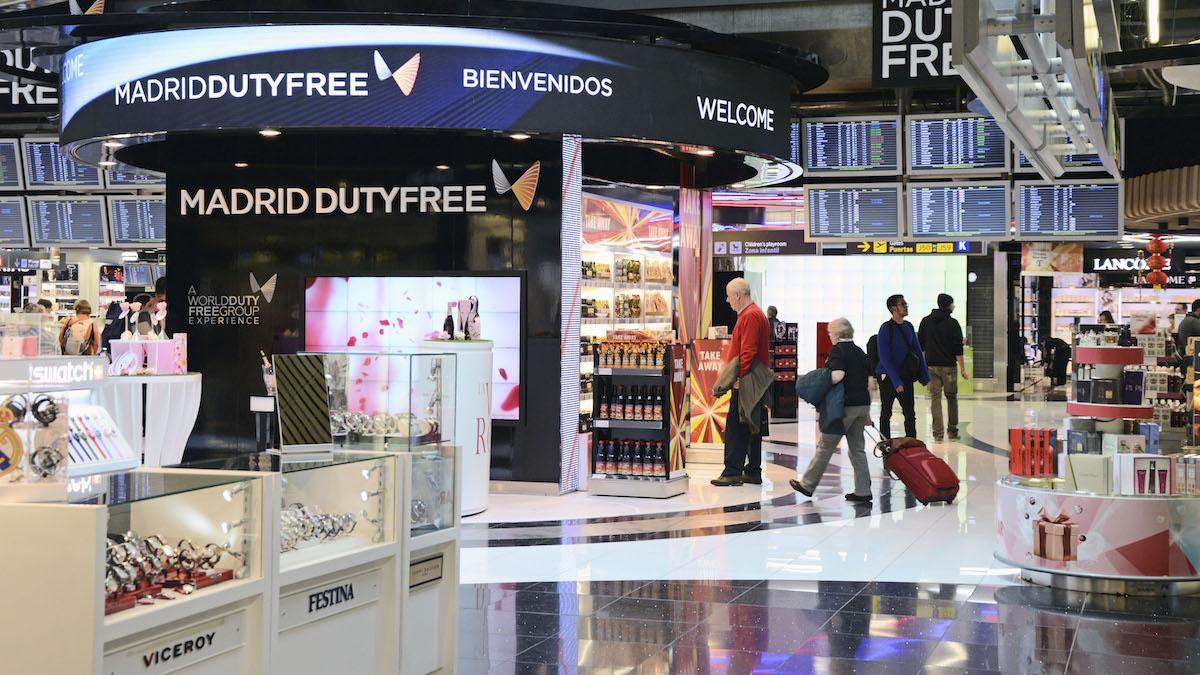 Duty Free en el aeropuerto Adolfo Suárez de Madrid-Barajas.