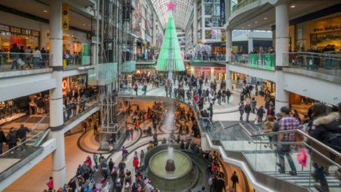 Navidad en un centro comercial.