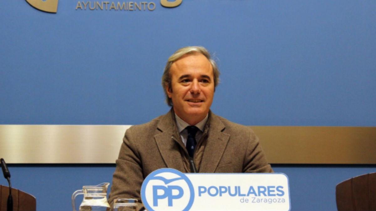 Jorge Azcón, alcalde de Zaragoza. (Foto: PP)