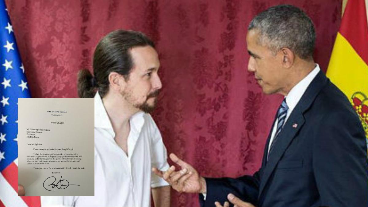 Pabo Iglesias, Barack Obama y la carta que el presidente de EEUU le ha enviado.