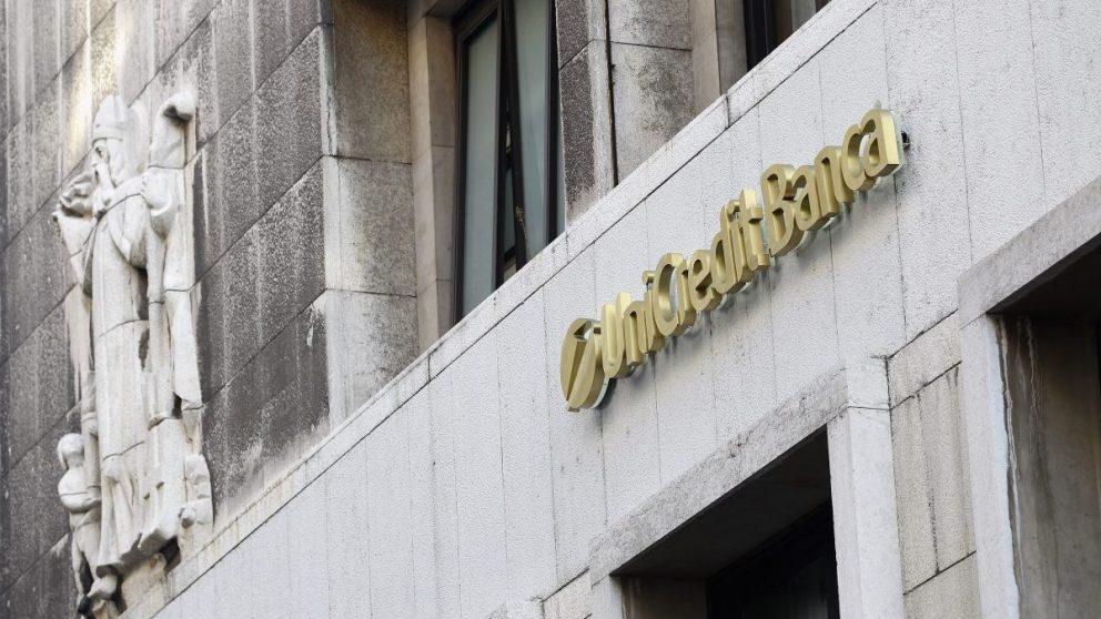 Fachada de la banca italiana, UniCredit (Foto: Getty)