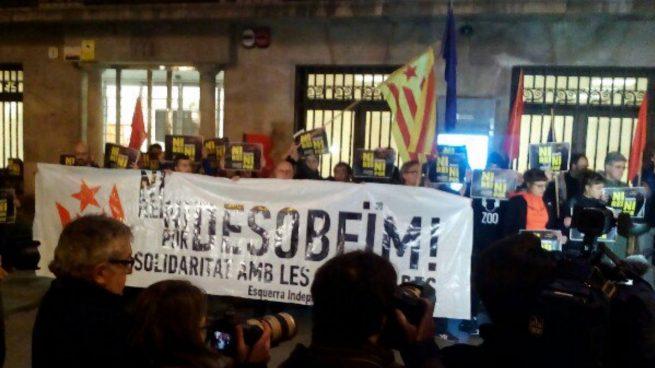 Un alto cargo de la Generalitat participó en la protesta contra la detención de radicales de la CUP