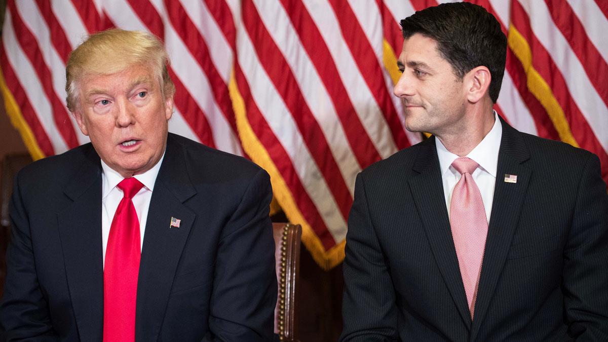 Donald Trump y Paul Ryan (Foto: AFP)