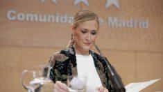 La presidenta de la Comunidad de Madrid, Cristina Cifuentes, tras un consejo de gobierno (Comunidad de Madrid)