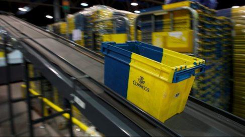 Cesta de Correos en las instalaciones de la empresa (Foto: Getty)
