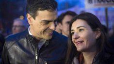 Carmen Montón junto a Pedro Sánchez.