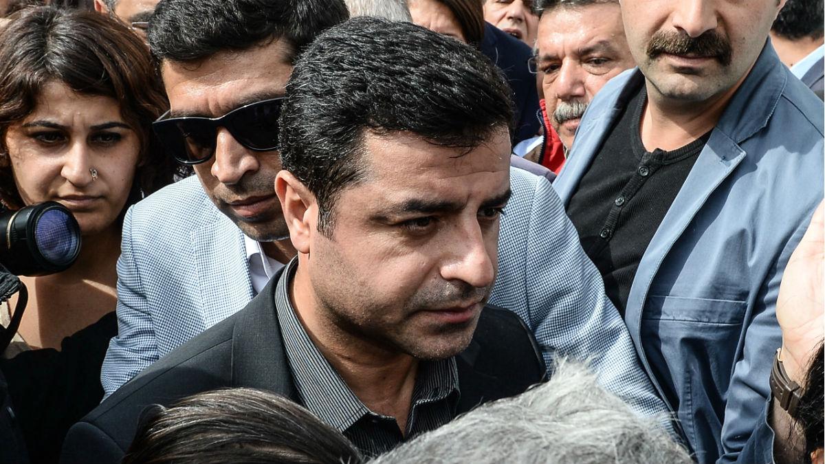 Selahattin Demirtas, copresidente del partido turco prokurdo HDP. (Getty)