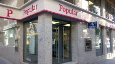 Oficina de Banco Popular antes de la resolución.