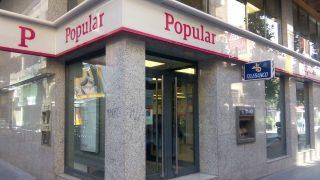 Oficina de Banco Popular antes de la resolución.