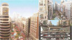El proyecto 'Gran Vía a pie' del arquitecto Miguel de Oriol.