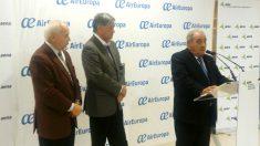 El presidente de Air Europa, Juan José Hidalgo, presenta la nueva ruta Madrid-Guayaquil.