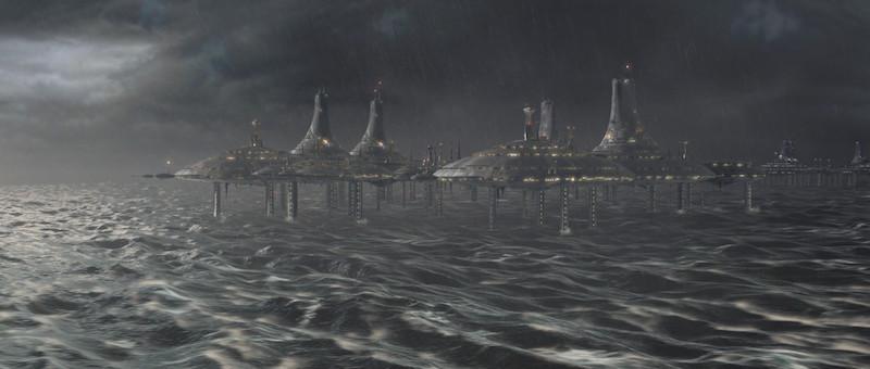 El planeta Kamino de Star Wars.