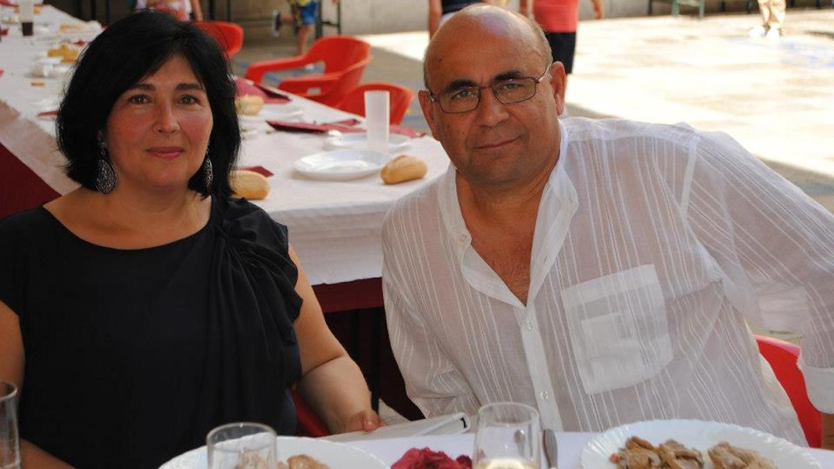 El edil de medioambiente de Cádiz, Manuel González Bauza y su pareja, Eva Acedo.
